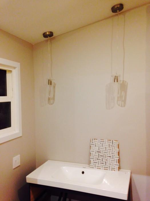 bathroom vanity pendant lights installed bathroom vanity pendant