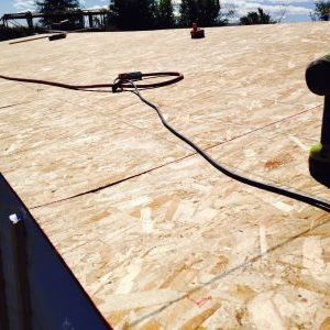 Screwing down roof decking OSB