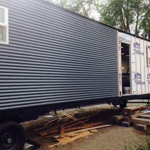Siding on long side of trailer