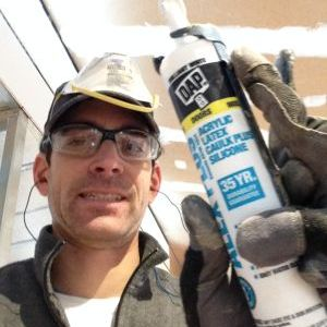 Tyson with caulk
