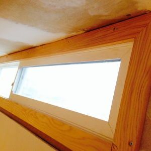 Finished ceiling window trim