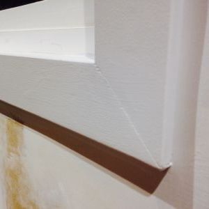 Primed kitchen window trim