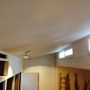 Ceiling looks flatter with primer