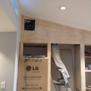 ... Installing Kitchen Ceiling Exhaust Fan In Pantry