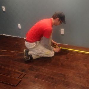 Installing hardwood floor in bedroom
