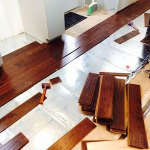 Installing engineered hardwood floor in kitchen