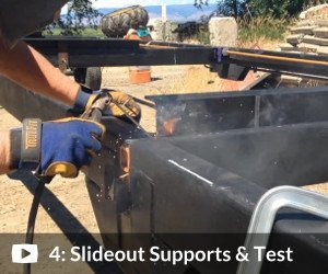 Complete Plans Package: Video #4 shows how we installed the slideout in our custom trailer and tested it (6:45)